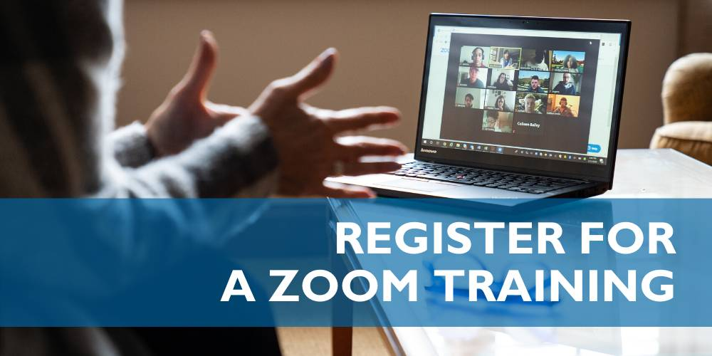 Register for a Zoom Training